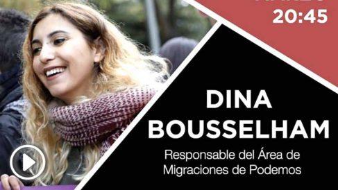 Dina Bousselham es actualmente secretaria de Migraciones de Podemos.