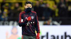 James Rodríguez, antes de un partido del Bayern. (AFP)