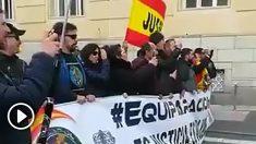 Agentes de la Guardia Civil abuchean a Pedro Sánchez en su visita a Palencia