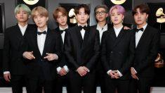 Los chicos de BTS en la pasada edición de los Grammy