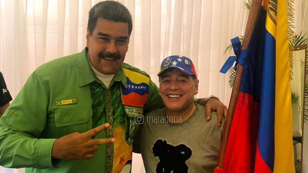 Diego Armando Maradona, sancionado por apoyar a Maduro. (Instagram)