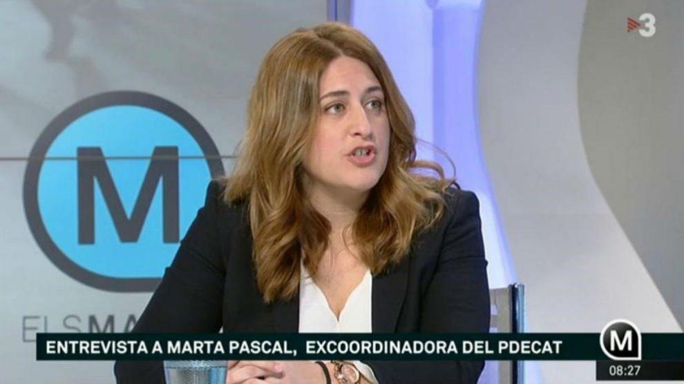 Marta Pascal, durante una entrevista en televisión