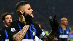 Mauro Icardi celebra un gol con el Inter (AFP)