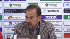 Ángel Torres en rueda de prensa (Getafe Club de Fútbol)