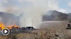 Simulacro de accidente aéreo en Canarias.