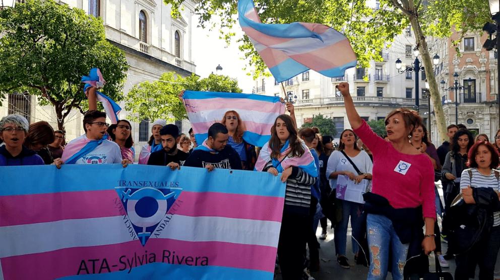 Manifestación Plataforma Trans (Foto. Redes Sociales de Plataforma Trans)