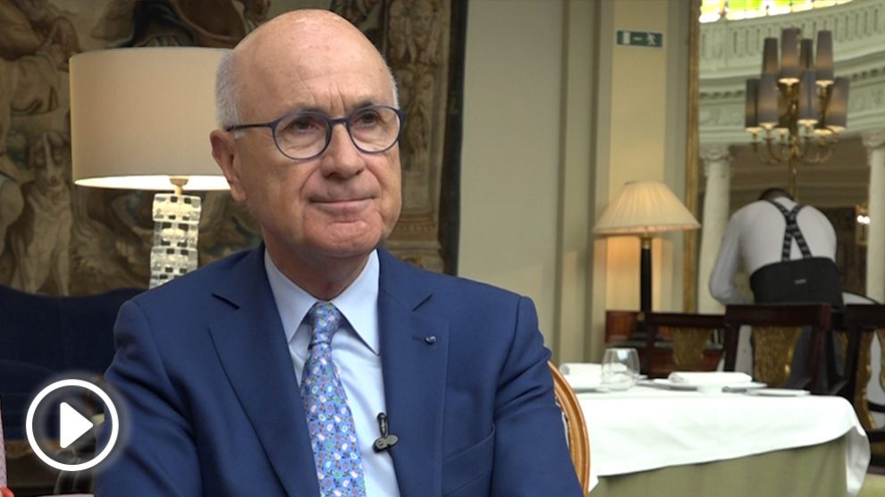 Duran Lleida durante la entrevista con OKDIARIO en el Hotel Palace.