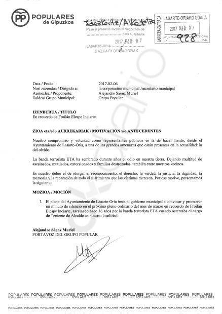 El nº 3 del PSOE por Guipúzcoa se negó a apoyar un homenaje a Miguel Ángel Blanco