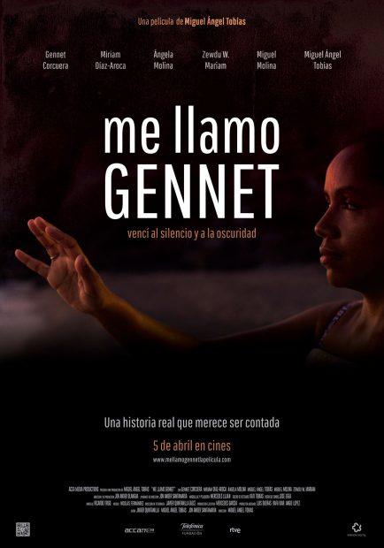 Cartel de la película 'Me llamo Gennet' dirigida por Miguel Ángel Tobías.