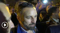 Santiago Abascal en el acto de inicio de campaña de VOX en Madrid.