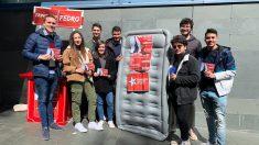 Las XSG con el colchón haciendo campaña