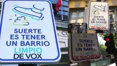 El cartel contra VOX.