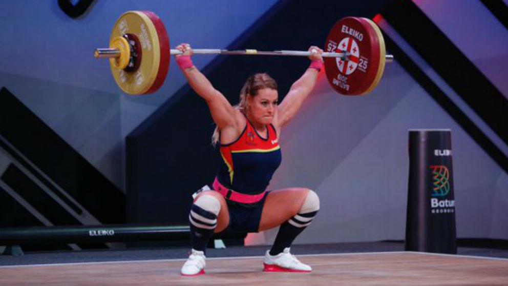 Lydia Valentín durante el campeonato de Europa en Batumi. (Europa Press)