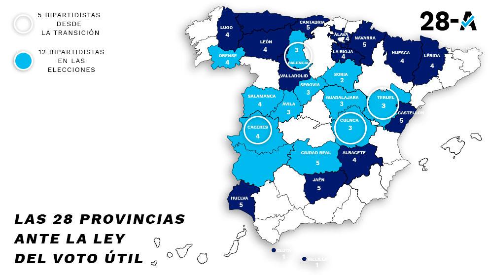 Las provincias menos pobladas decidirán las elecciones del 28-A