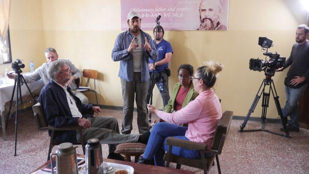 Los protagonistas de 'Me llamo Gennet' de Miguel Ángel Tobías.