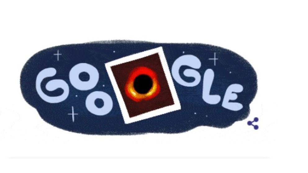 Este es el Doodle de Google dedicado a la primera foto de un agujero negro