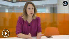 Aurora Nacarino-Brabo en un momento de la entrevista con OKDIARIO