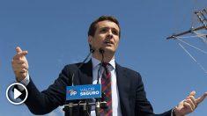 Pablo Casado, líder del PP, un acto de campaña. Foto. PP