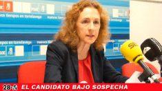 La candidata del PSOE al Senado por Cantabria, Isabel Fernández