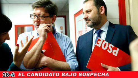 El número cuatro de la lista del PSOE de Sevilla al Congreso de los Diputados, Francisco Salazar, junto al ministro José Luis Ábalos