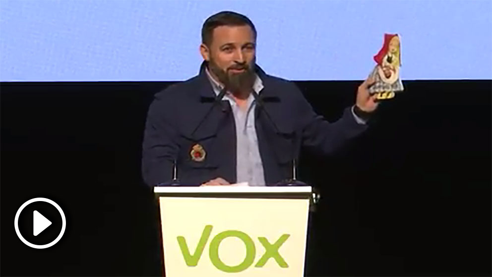 Santiago Abascal, líder de VOX, en Asturias.