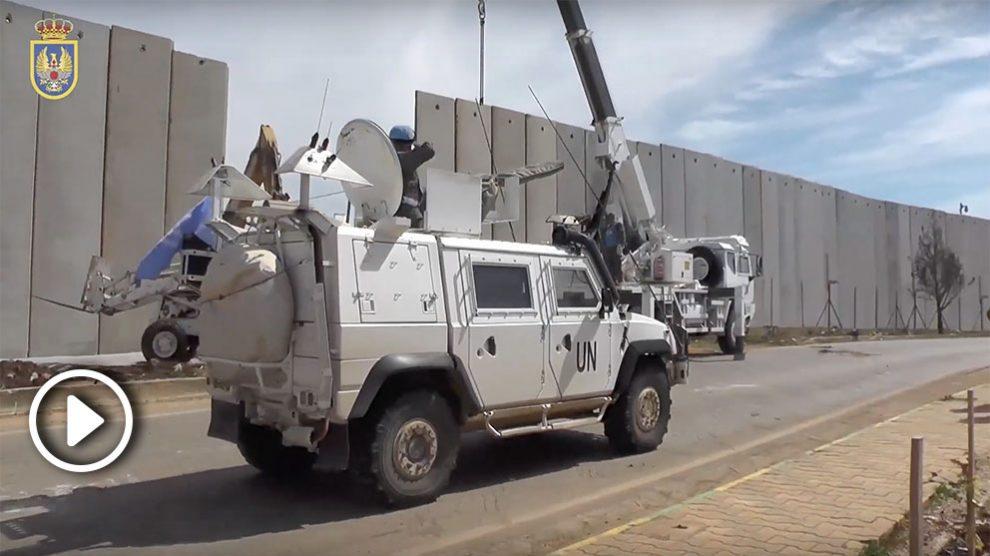 Militares españoles trabajando junto de Israel y Líbano.