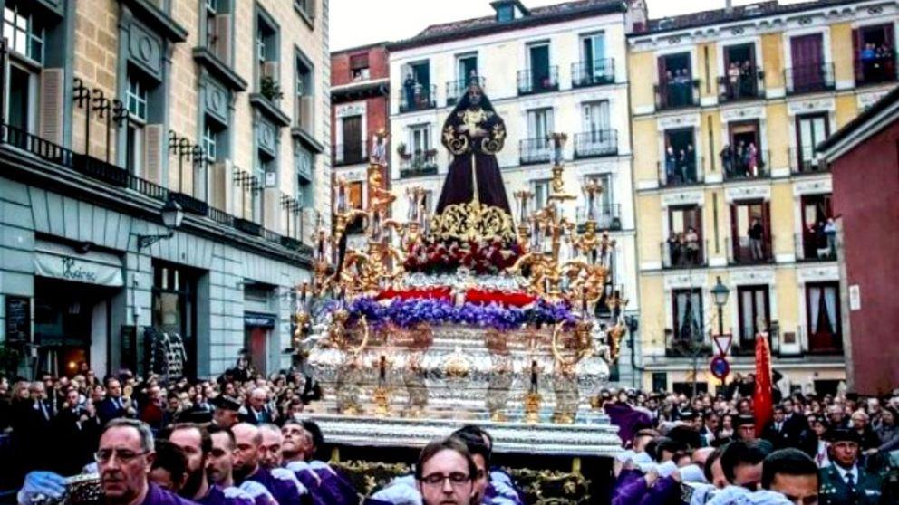 Horario y calles que sufrirán los cortes de tráfico en Madrid por las procesiones de Semana Santa 2019
