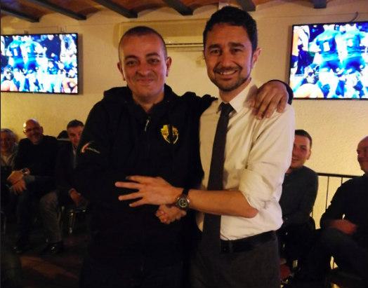 Tito Álvarez junto a Damià Calvet