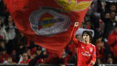 Joao Félix, durante un partido del Benfica. (Getty)