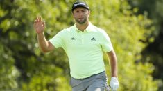 Jon Rahm durante la primera jornada del Masters de Augusta. (AFP)