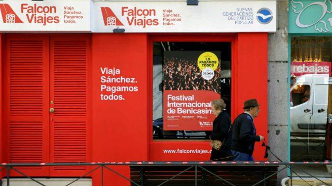 El PSOE recurre ante la Junta Electoral la campaña «Falcon Viajes»