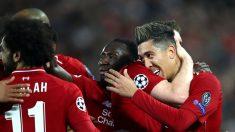 Los jugadores del Liverpool celebran el tanto de Firmino al Oporto (Getty).