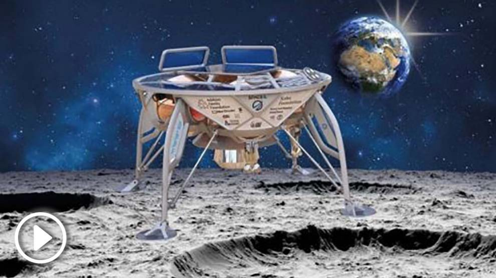 Recreación de la sonda enviada por Israel a la Luna