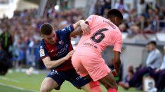 Huesca y Barcelona empatan en El Alcoraz. (EFE)