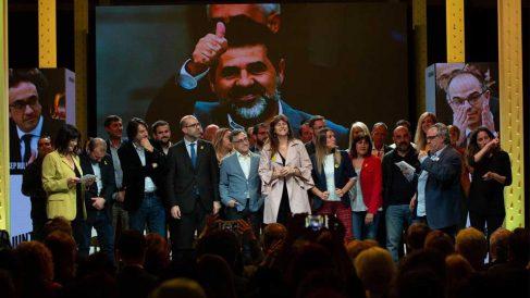 Acto de campaña de JxCat. Foto: Europa Press.