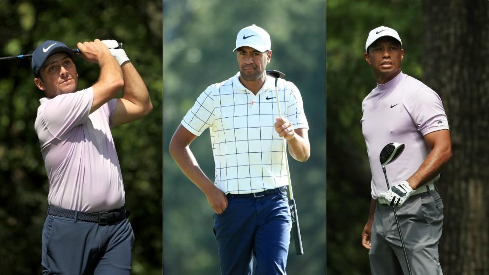 Molinari, Finau y Tiger Woods. (Getty)