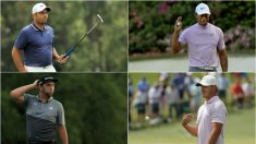 Molinari, Woods, Rahm y Koepka. (Getty)