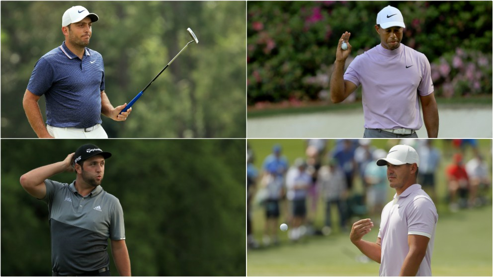 Molinari, Woods, Rahm y Koepka. (Getty)