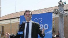 Pablo Casado durante un acto de campaña- Foto: Europa Press