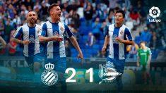 Pedrosa celebra un gol con el Espanyol. (EFE)