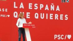Meritxell Batet en un acto de campaña. Foto. Twitter PSOE.