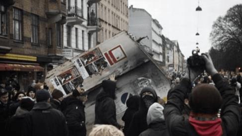 Disturbios en Dinamarca. Foto. Redes Sociales.