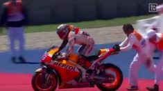 Márquez se cayó en el GP de las Américas. (DAZN)
