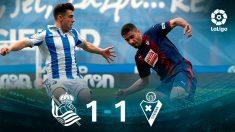 Real Sociedad y Eibar empatan en Anoeta. (EFE)