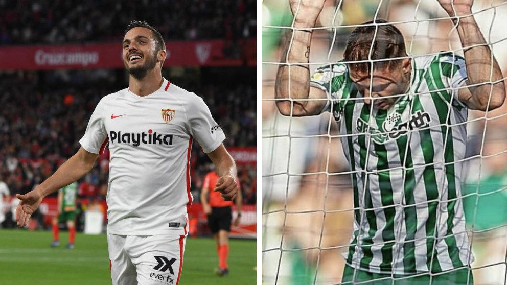 Pablo Sarabia y Joaquín Sánchez