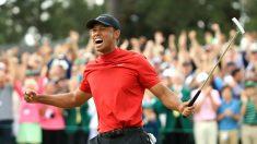 Tiger Woods celebra el triunfo en el Masters de Augusta. (Getty)