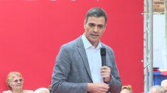 Pedro Sánchez, en Leganés. (Foto: Europa Press)