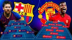 El Barcelona se enfrenta al United en el Camp Nou.