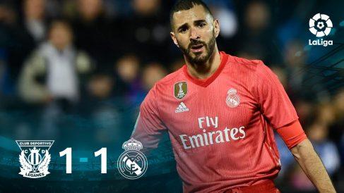 El Real Madrid no pudo pasar del empate contra el Leganés.