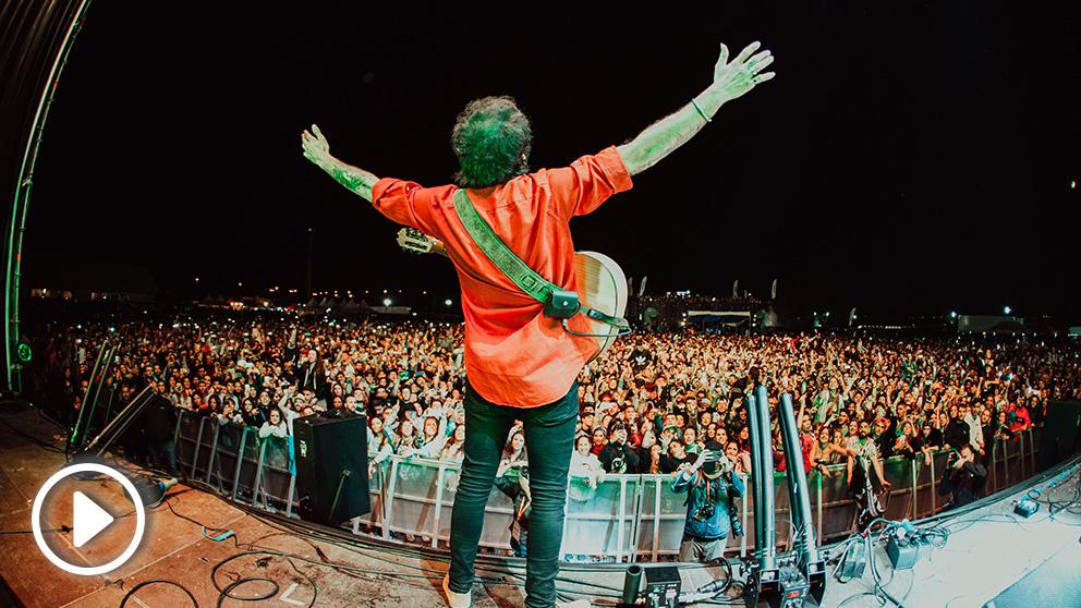 El Canijo de Jerez en el escenario del Primavera Trompetera Festival 2019. Foto: juampevz